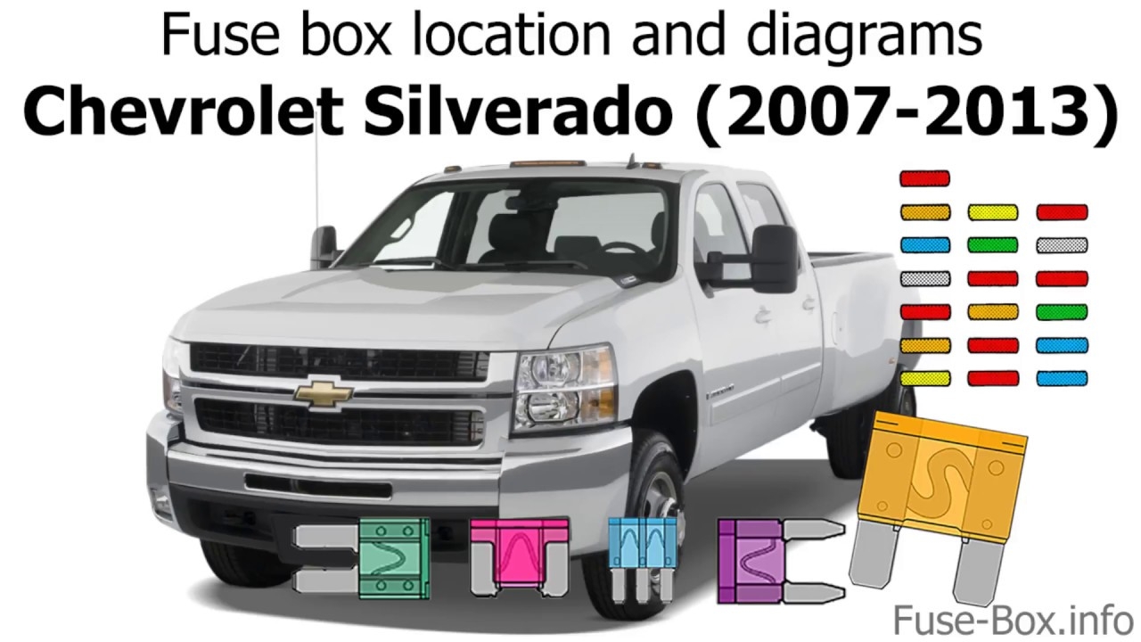 [DIAGRAM_3NM]  Fuse box location and diagrams: Chevrolet Silverado (2007-2013) - YouTube | Latch For Silverado Fuse Box |  | YouTube