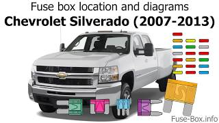 fuse box location and diagrams: chevrolet silverado (2007-2013) - youtube  youtube