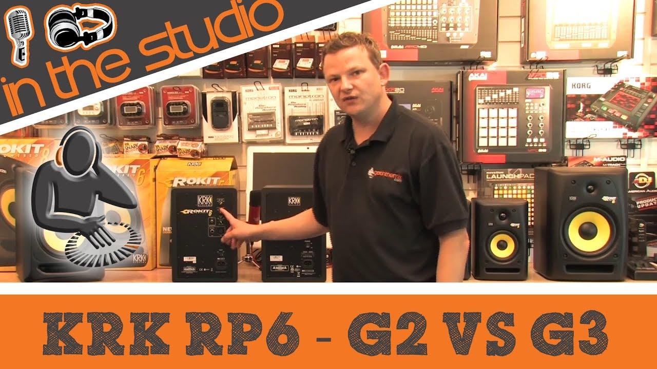krk rokit rp6 g3 vs g2 studio monitor comparison youtube. Black Bedroom Furniture Sets. Home Design Ideas