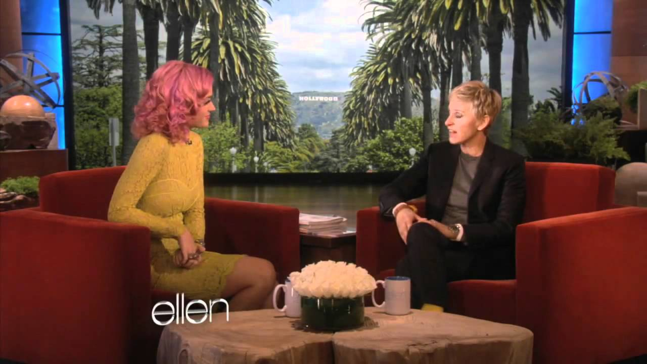 Katy perry at the ellen degeneres show talking about having babies youtube - Ellen show videos ...