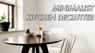 MINIMALIST KITCHEN DECLUTTER & ORGANIZATION | simplifying life with minimalism