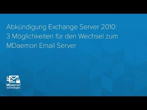 Abkündigung Exchange Server 2010: 3 Möglichkeiten für den Wechsel zum MDaemon Email Server