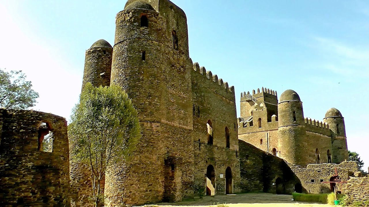 The Palaces and Castles of Gondar, Ethiopia in HD - YouTube