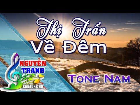 [Karaoke nhạc sống] Thị Trấn Về Đêm - Tone Nam