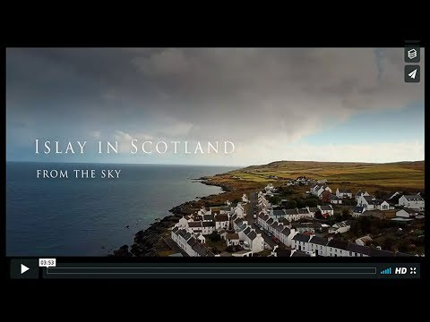 Islay in Scotland from the sky