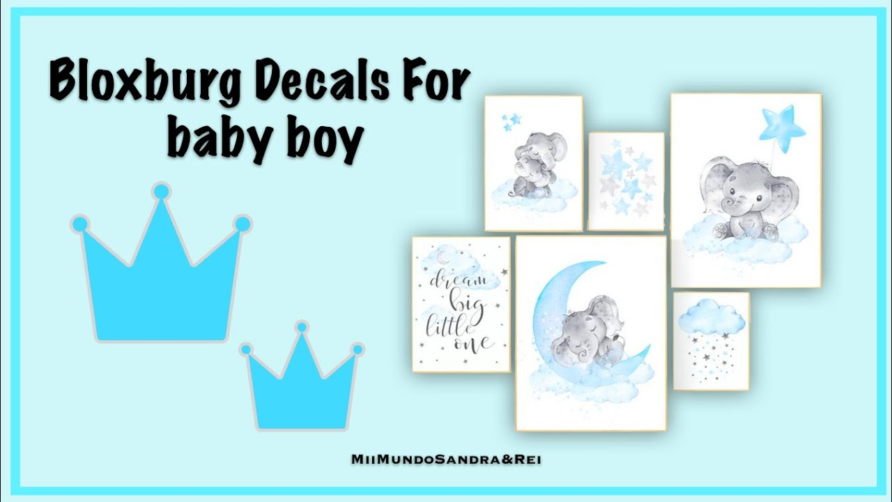 How To Place Wall Decals Bloxburg: Baby Boy Pictures - YouTube