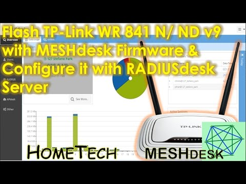 Install & Config MESHdesk Firmware On TP Link TL-WR841N Router & Connect With RADIUSdesk Server