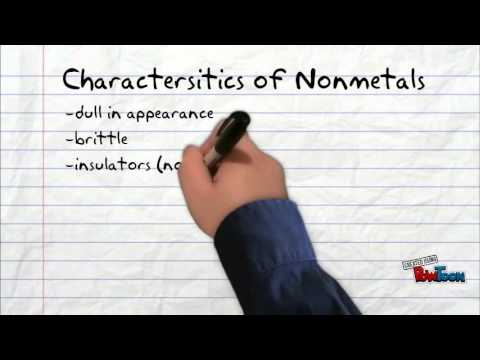 metals nonmetals and metalloids youtube
