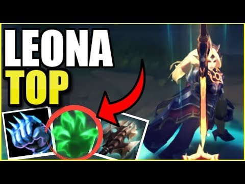 PLAYING LEONA *TOP* WITH THE NEW SKIN! || Solar Eclipse Leona Season 9 Gameplay
