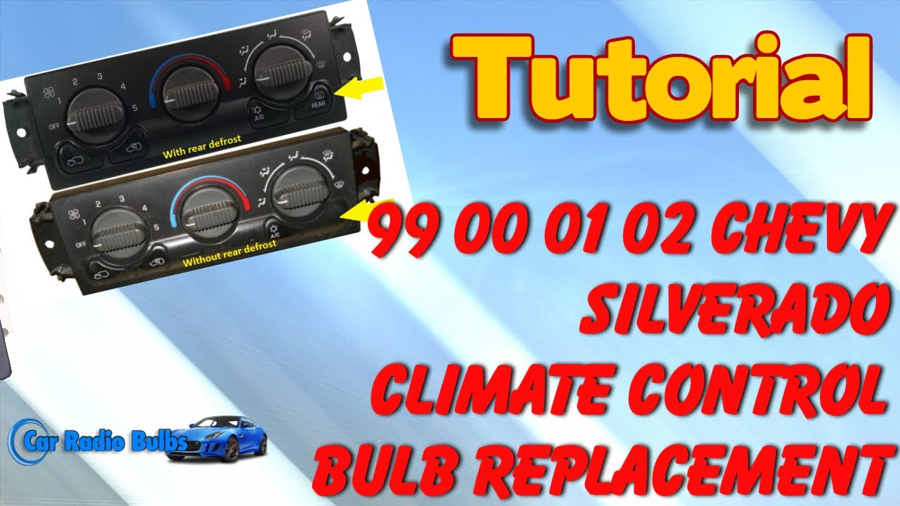 How To Replace The Light Bulbs In Your Chevy Climate Control Youtube