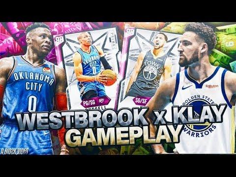 PINK DIAMOND KLAY THOMPSON + PINK DIAMOND RUSSELL WESTBROOK GAMEPLAY! NBA 2K20 MYTEAM