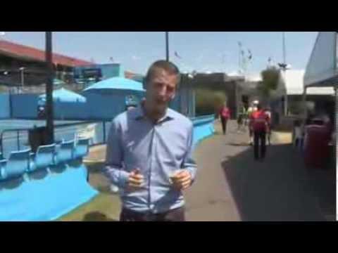 Australia heatwave: Tennis courts 'like sauna'