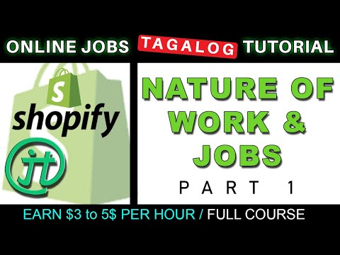 Shopify Nature of Work and Job List Online Jobs at Home Virtual Assistant Job Philippines Tagalog thumbnail