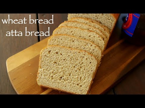 wheat bread recipe | whole wheat bread | आटा ब्रेड या गेहूँ का ब्रेड | wholemeal bread or atta bread