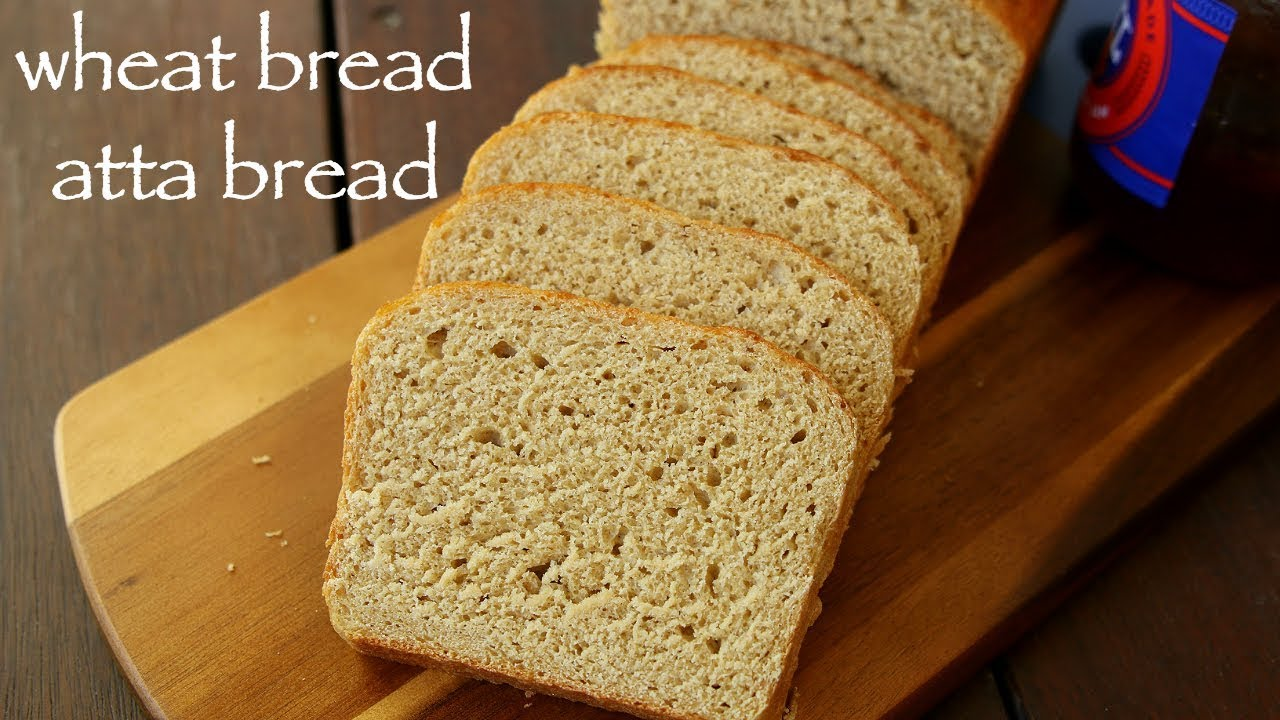 wheat bread recipe | whole wheat bread | wholemeal bread or atta bread