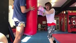 キャバ嬢Melty輝!格闘技を始める‼︎練習16日目‼︎ 日比谷亜美 検索動画 27