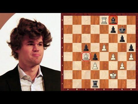 Amazing Chess Game : Magnus Carlsen vs Sergey Karjakin - Tata Steel (2013) - King's Indian Attack
