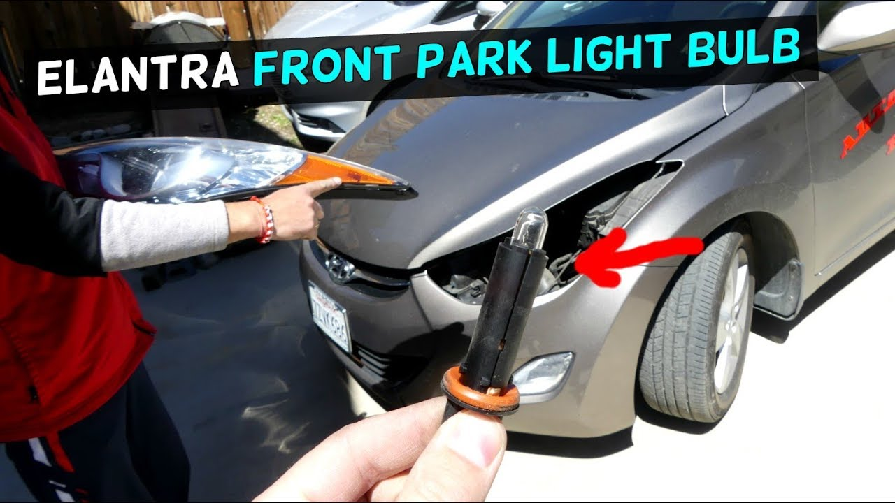 Hyundai Elantra Front Park Light Bulb Replacement 2011