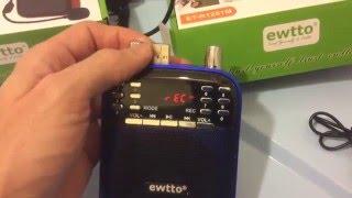 Громкоговоритель мегафон диктофон MP3 ewtto(, 2016-01-30T19:41:07.000Z)