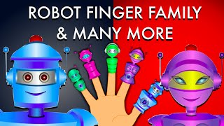 Robot Finger Family And Many More - Nursery Rhymes For Children