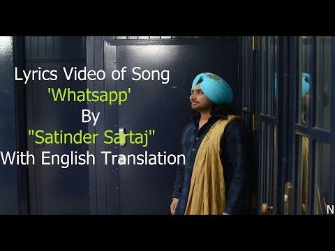 SARTAJ - Lyrics Video of Song 'Ena Vehla (Whatsapp)' By
