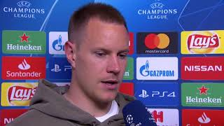 Marc-André ter Stegen im DAZN Interview nach FC Barcelona vs Olympique Lyon