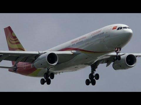 INAUGURAL FLIGHT - Hainan Airlines A330-243 [B-6116] Landing and Takeoff at Calgary Airport ᴴᴰ