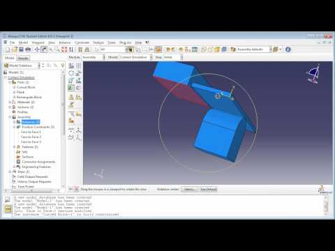 7.b) Modeling contact using Contact Pairs - Part 1 of 2 (SILENT version): This is a free tutorial on modeling Contact using Contact Pairs in Abaqus.   This video demonstration can be used to accompany the book