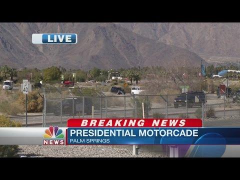 President Obama Leaves Palm Springs International Airport