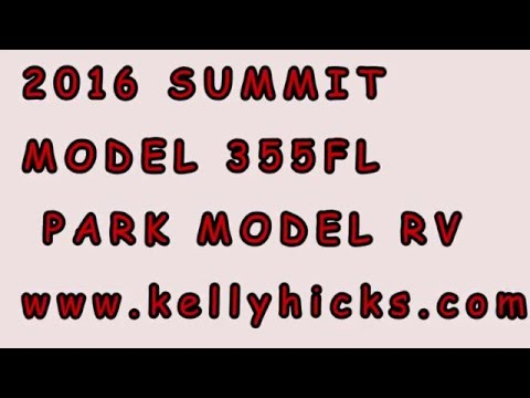 "2016 SUMMIT MODEL 355FL PARK MODEL RV ""Tiny House"""
