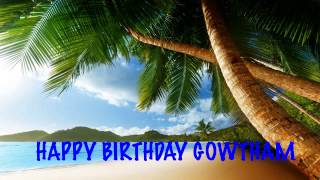 Gowtham  Beaches Playas - Happy Birthday