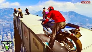 GTA 5 Funny Moments DAREDEVIL Motorcycle Race | Racing With Canadians | GTA V Funny Montage