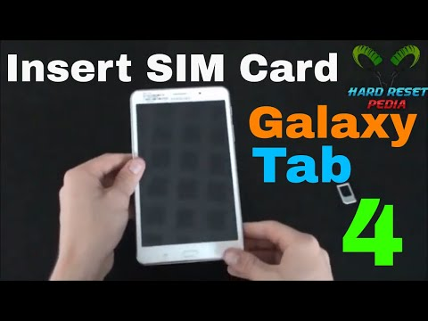 Galaxy Tablet 4 Insert SIM Card
