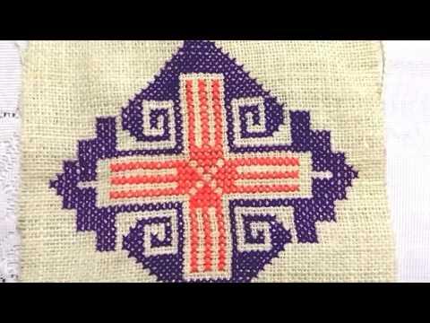 Cross stitch design for floor mat
