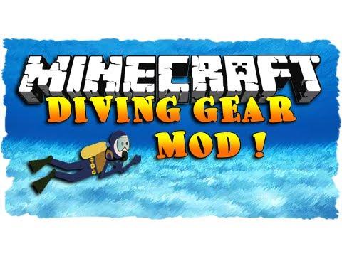 Minecraft Mod Showcase - DIVING GEAR MOD!   IJevin
