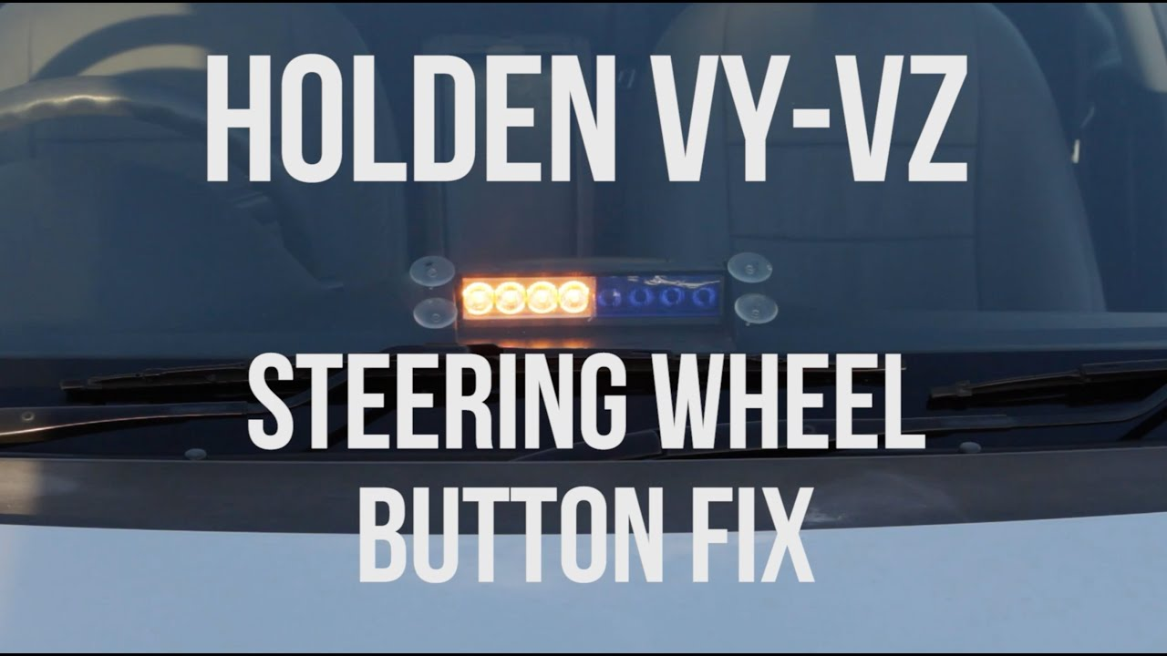 maxresdefault holden vy vz steering wheel button replacement youtube vy steering wheel control wiring diagram at bayanpartner.co