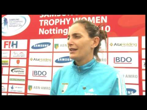 Luciana Aymar on the World Cup and the Champions Trophy 2010