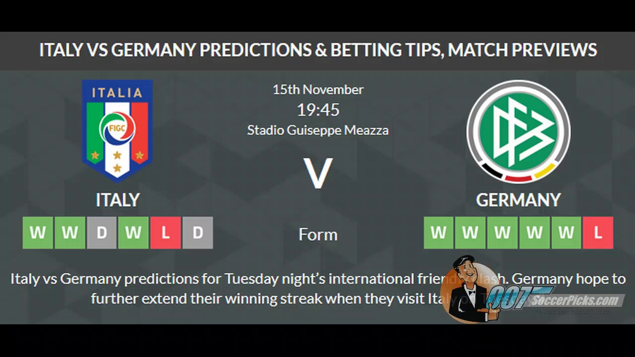 Germany vs italy betting prediction double chance betting rules baseball