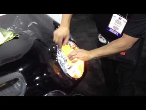 3m Demonstrates Headlight Protective Film Installation At Sema 2012
