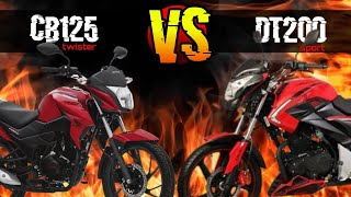 HONDA CB125 Twister vs ITALIKA DT200 REVIEW Cual Comprar?