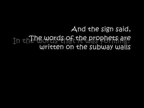Simon & Garfunkel - The Sound of Silence (Original Version From 1964) with Lyrics