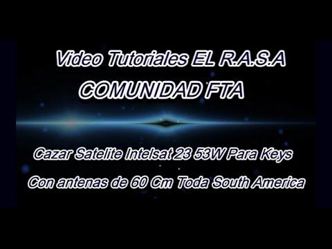 Cazar Satelite Intelsat 23 53W Para Keys South America Toda a Full