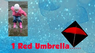 1 Red Umbrella......,a short and beautiful poem on rain🌧️☔