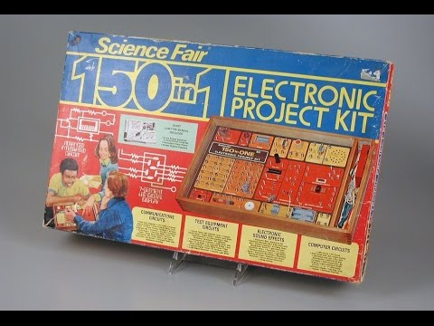Science Fair 150 in 1 Electronic Project Kit circa 1976, Tandy \ Radio Shack product review.