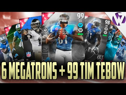 Madden 16 99 BOSS CALVIN JOHNSON + 5 OTHER MEGATRONS + 99 TEBOW GAMEPLAY - HE HAS A MEGATRON TOO