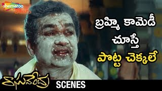 Brahmanandam Hilarious Comedy Scene | Raghavendra Movie Scenes | Prabhas | Anshu | Shweta Agarwal