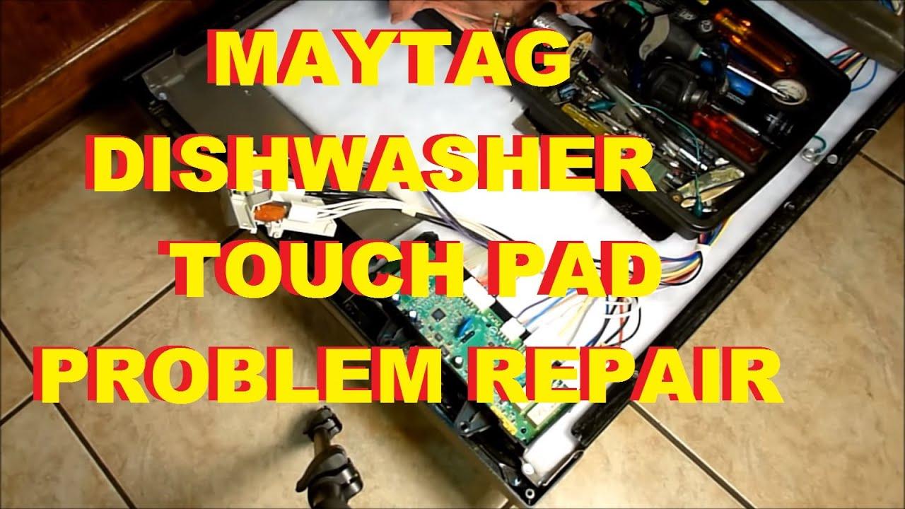 maytag dishwasher touch pad problem repair fix mdb7601 control panel display [ 1280 x 720 Pixel ]
