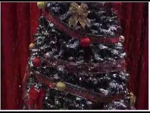 Rbol nevado para decoracion de navidad youtube - Arreglos para navidad ...