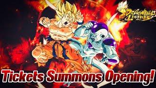 Chillige Ticket Summons Opening mit 100% Sparkings! :) | Dragon Ball Legends Deutsch