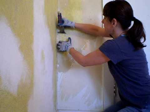 Removing Painted Wallpaper - YouTube